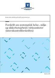 Forskrift om systematisk helse-, miljø- og sikkerhets arbeid i ...