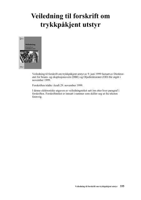 7747f96c Veiledning til forskrift om trykkpåkjent utstyr