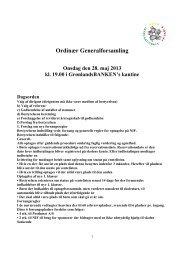 Referat af ordinær generalforsamling 2013