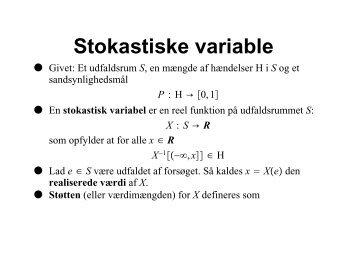 Stokastiske variable