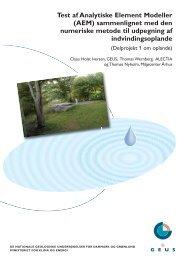 Test af Analytiske Element Modeller - Grundvandskortlægning