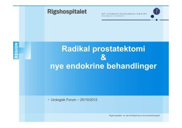 radikal prostatektomi - Urologisk Forum