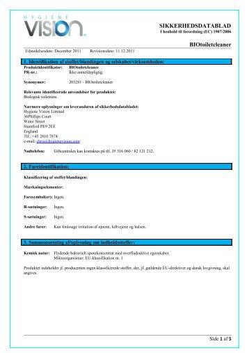 SIKKERHEDSDATABLAD Scandiflex Danmark ApS - Hightech
