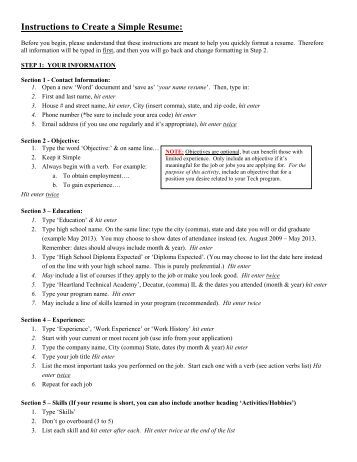 how to write a professional resume step by step diy instructions how ...