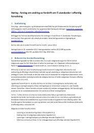 Høringsnotat - forskrift av IT-standarder i offentlig forvaltning - Difi