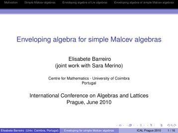 Enveloping algebra for simple Malcev algebras