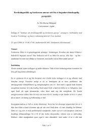 Forskningsetikk og forskerens ansvar sett fra et ...