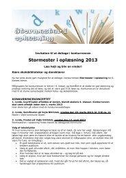 Opråb til Klasselærerne for skolens 5 - Vejle Bibliotekerne