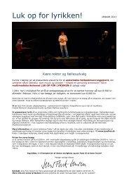 præsentationspjece om Luk op for lyrikken - Jens Fink-Jensen Online