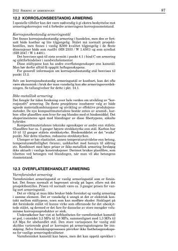 12.3 Overflatebehandlet armering