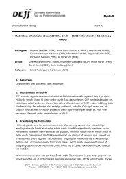 Referat af møde 8 i INFO - DEFF