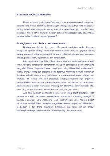 Lampiran 4: Strategi Social Marketing - P2KP