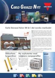 CGNytt 3-04 - Carlo Gavazzi