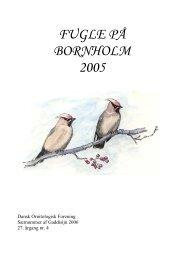 Fugle på Bornholm 2005 - DOF Bornholm