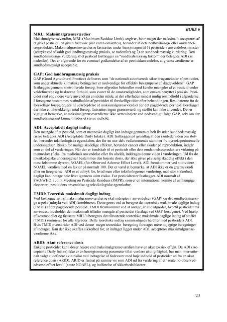 Pesticidrester i fødevarer 1999 - resultater fra den danske