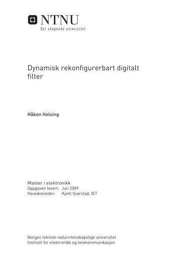 Dynamisk rekonfigurerbart digitalt filter - DAIM * Introduksjon til ...