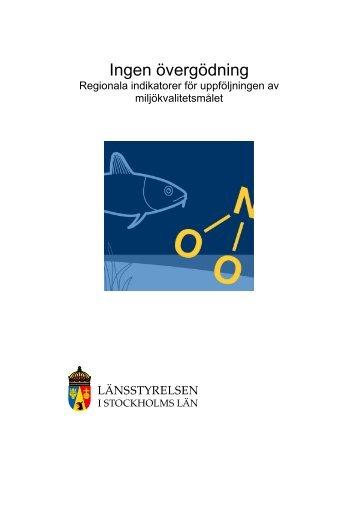 Förslag till indikatorer - Länsstyrelsen i Stockholms län ...