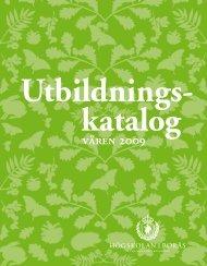 våren 2009 - Högskolan i Borås