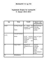 Matematik 4.A og 4.B Vejledende årsplan for matematik 4. klasser ...
