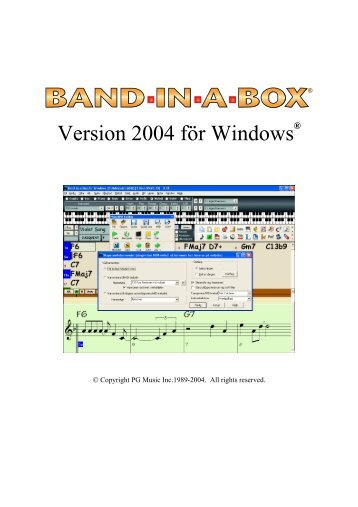 band in a box manual pdf
