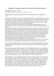 Prædiken til 1. søndag efter Trinitatis, d. 10. juni ... - Sct. Peders sogn