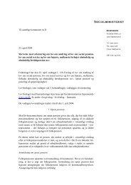 Til samtlige kommuner m.fl. 23. april 2004 Skrivelse med ... - Social