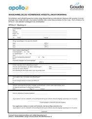 skadeanmeldelse vedrørende afbestillingsforsikring - Apollorejser