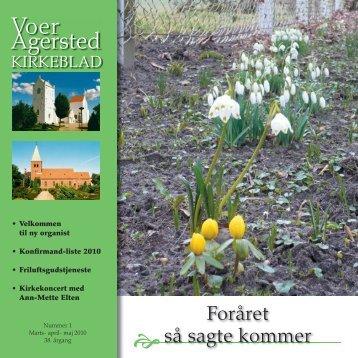 nr. 1 for marts - maj 2010 - Voer og Agersted Sogne