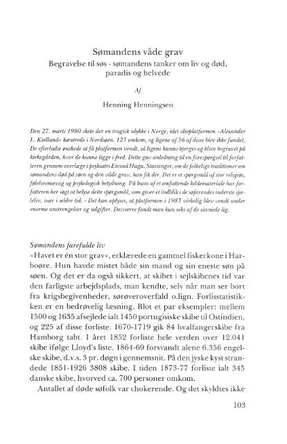 Sømandens våde grav, s. 103-167 - Handels- og Søfartsmuseet