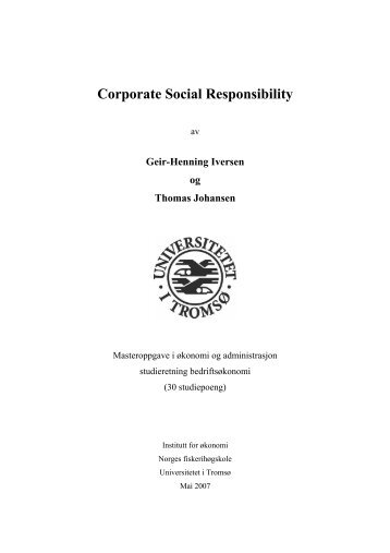Corporate Social Responsibility.pdf - BI Norwegian Business School