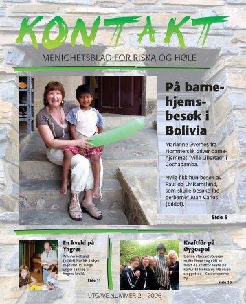 På barne- hjems- besøk i Bolivia - Menighetsbladet