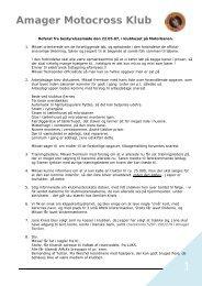 Referat fra bestyrelsesmøde mandag d. 22.05.2007 - Amager ...