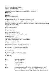 referat arbejdsweekend 10-11 november 2007 - Musek