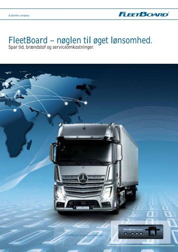 FleetBoard – nøglen til øget lønsomhed.