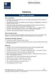 Kontrakt og vejledning - Til lejer af bussen - Plejehjemmet Falkenberg