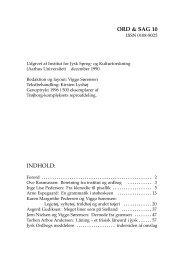 ord & sag 10 indhold - Peter Skautrup Centeret - Aarhus Universitet