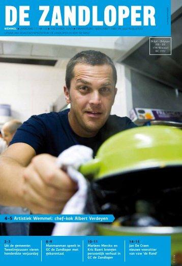 4-5 Artistiek Wemmel: chef-kok Albert Verdeyen - De Zandloper