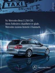 Ny Mercedes-Benz E 250 CDI. Steen Følleslevs chauffører er glade ...