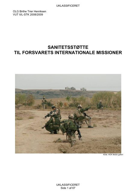 Sanitetsst tte til forsvarets internationale missioner