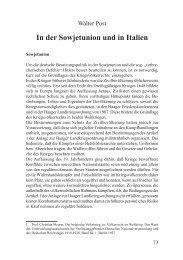 In der Sowjetunion und in Italien - Walter Post - Deutschland Journal