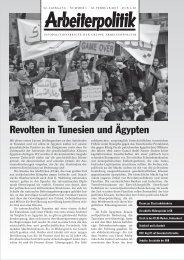 1 2011 - der Gruppe Arbeiterpolitik
