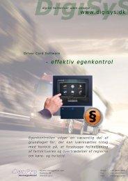 www.digisys.dk - effektiv egenkontrol