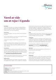Værd at vide om at rejse i Uganda - Albatros Travel