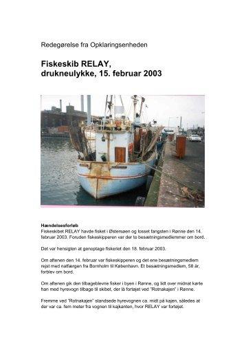 RELAY - Drukneulykke den 15. februar 2003