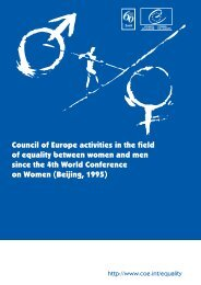 Council of Europe activities in the field of equality ... - NVO programa