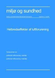 Helbredseffekter af luftforurening - Sundhedsstyrelsens Rådgivende ...