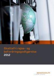 Skattefri rejse- og befordringsgodtgørelse 2012 - Beierholm