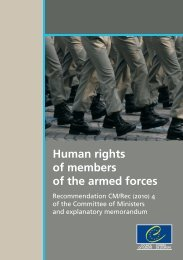 Human rights of members of the armed forces - Council of Europe
