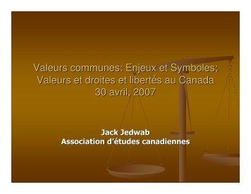 Valeurs communes: Enjeux et symboles / Valeurs et droits