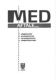 MED aftale for Hvidovre kommune 2013 - OAO